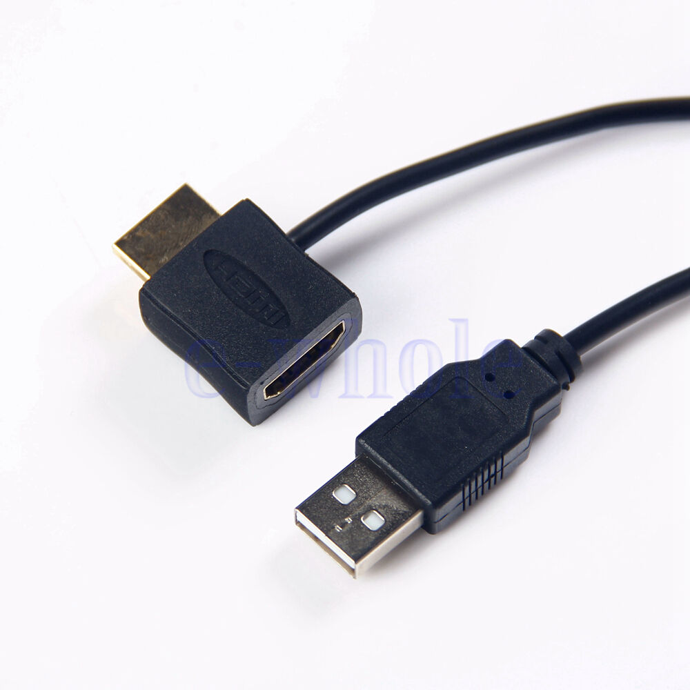 hdmi male to female adapter plug with usb 2 0 power supply. Black Bedroom Furniture Sets. Home Design Ideas