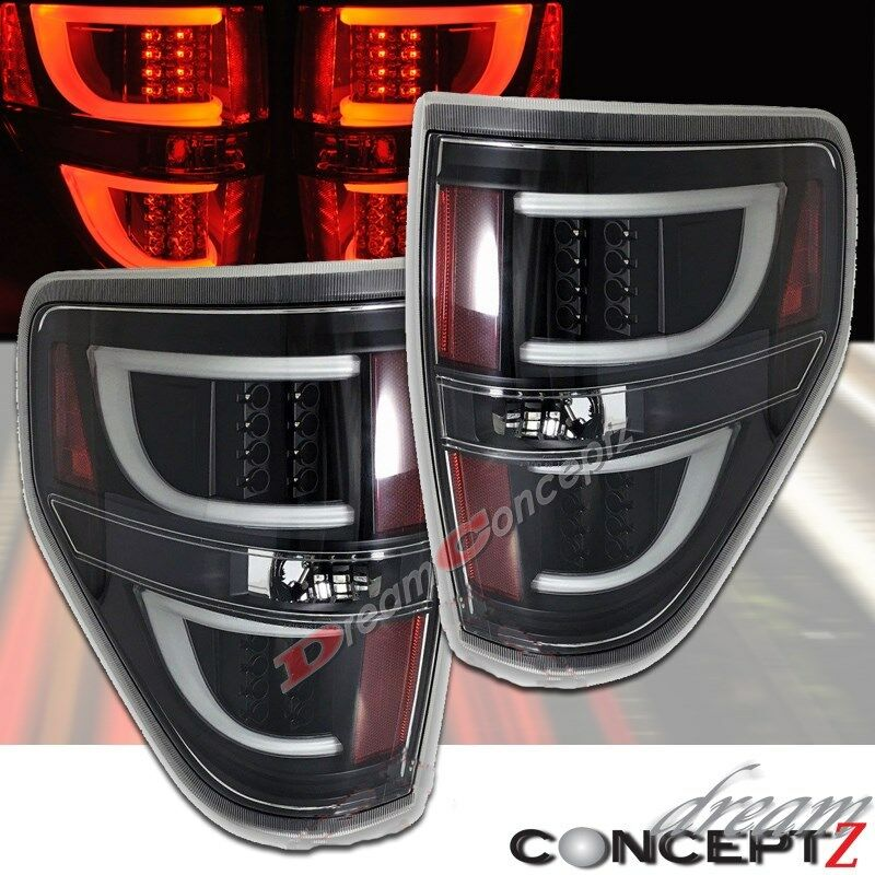 Led Tail Lights For 2009 2014 F150 Pickup Truck Clear Lens Black Style Pair Ebay