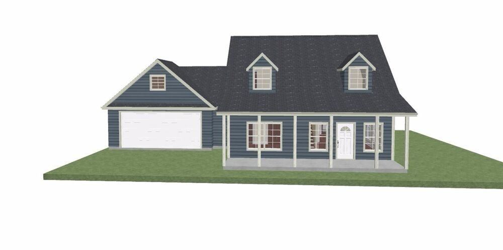 House plan 2 story cape cod house plan sf 1731 for 1 5 story cape cod house plans