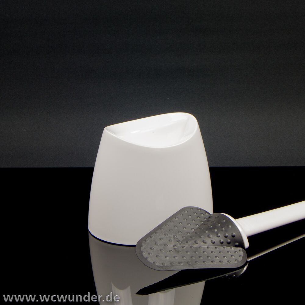 wc wunder antimicrobial bristleless toilet brush with holder white ebay. Black Bedroom Furniture Sets. Home Design Ideas