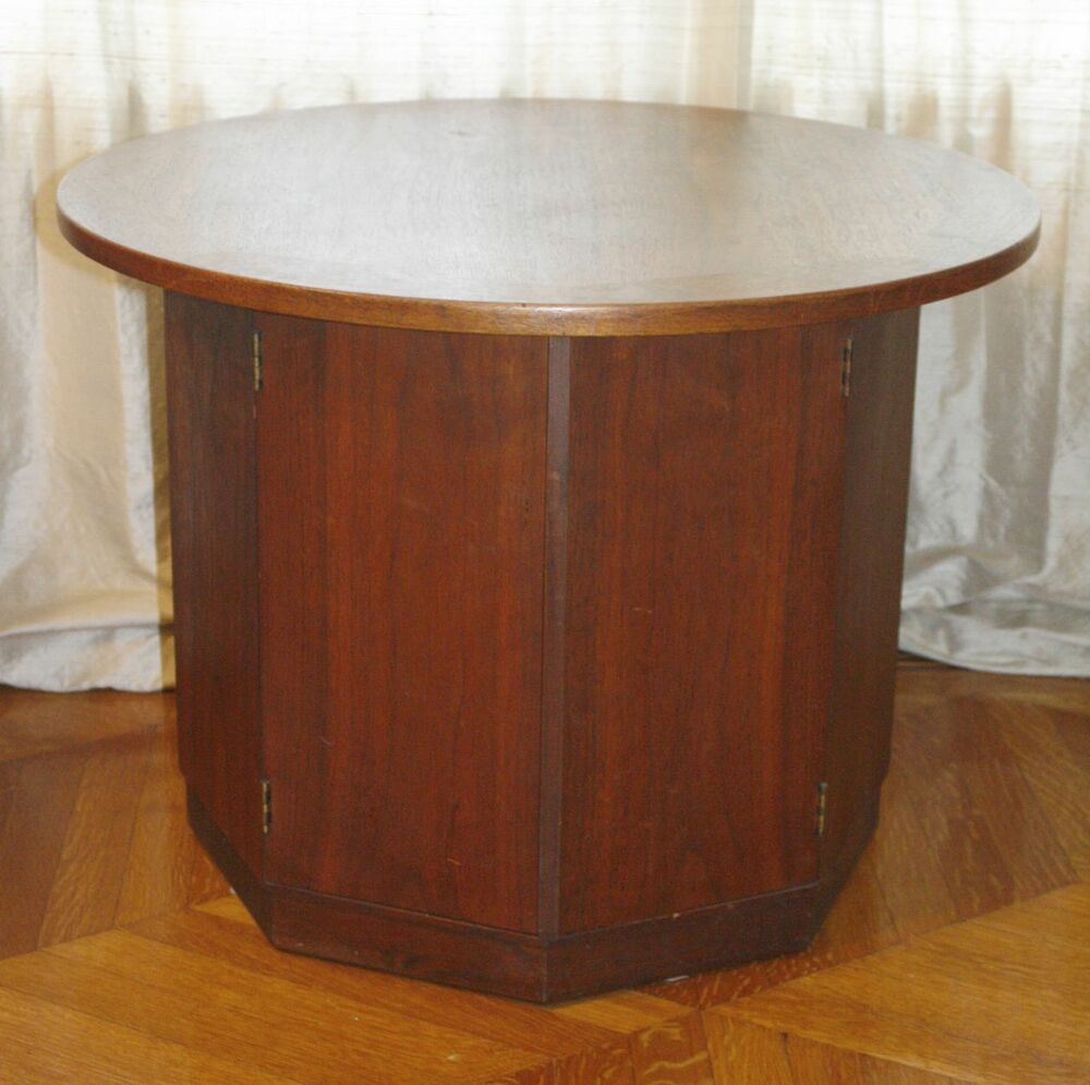 round top octagonal side table mid century modern rare ebay