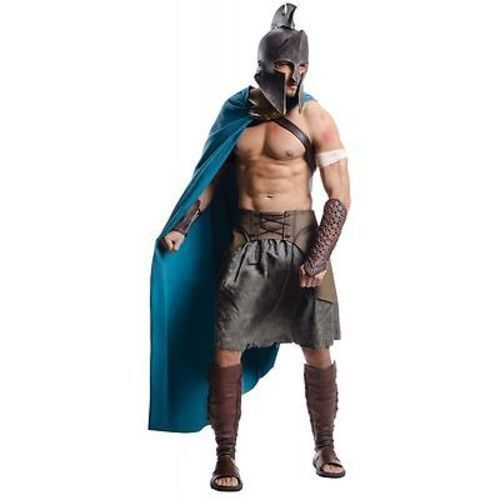 300 Deluxe Themistocles Spartan Warrior Ancient Halloween Costume ...