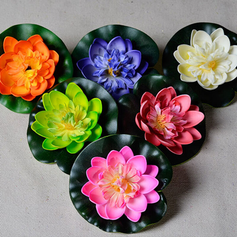 Artificial Lotus Floating Water Lily Flower Plants