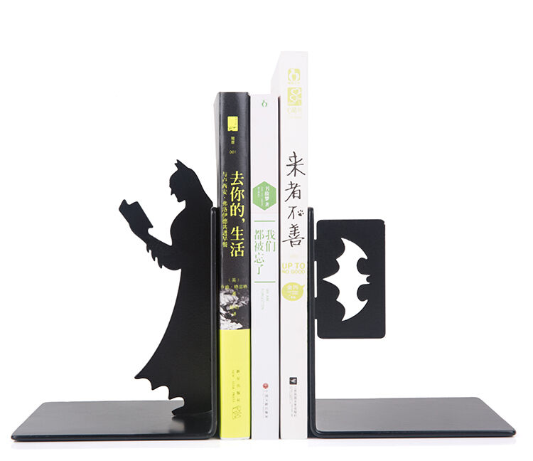 on sale batman bookends decorative collectibles steel book ends movie super hero ebay. Black Bedroom Furniture Sets. Home Design Ideas