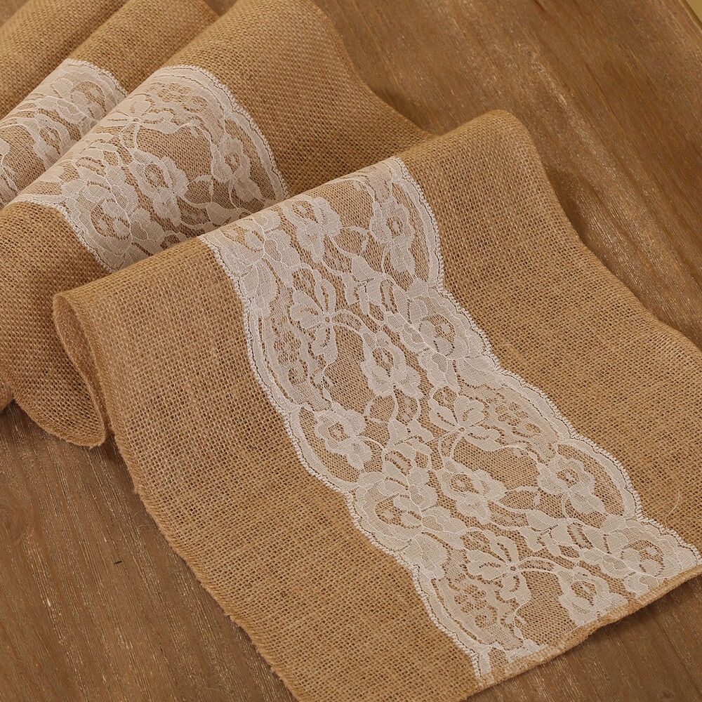 Burlap amp Lace Table Runner Rustic Baby Shower Wedding  : s l1000 from www.ebay.com size 1000 x 1000 jpeg 342kB