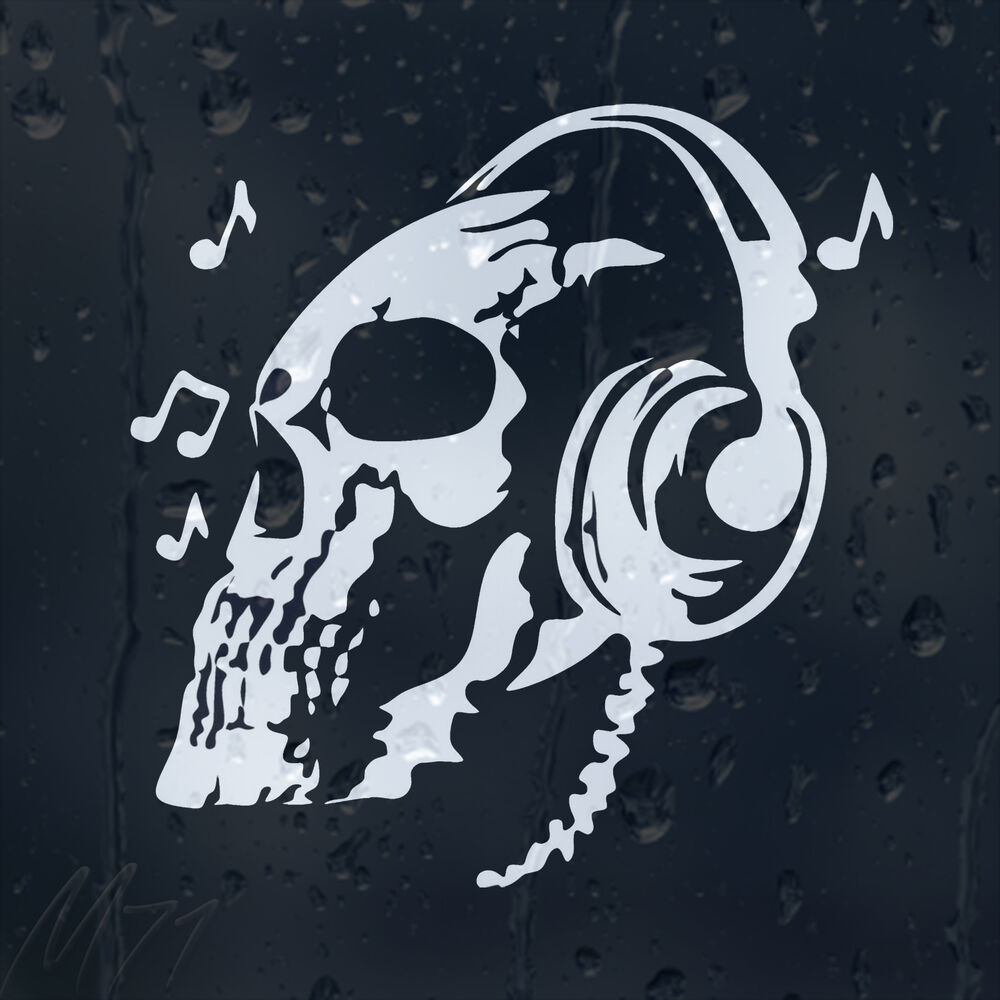 Dj skull car decal vinyl sticker for bumper or panel or window ebay