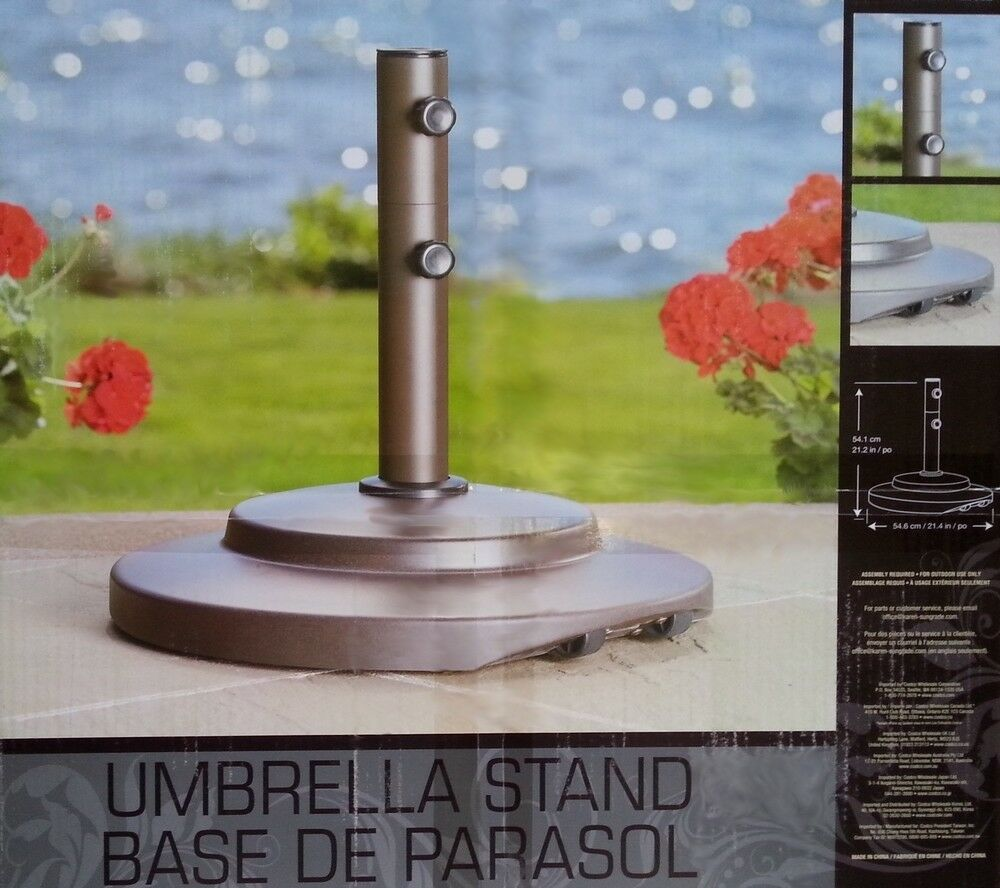 umbrella base stand with wheels outdoor patio garden 66lb ebay