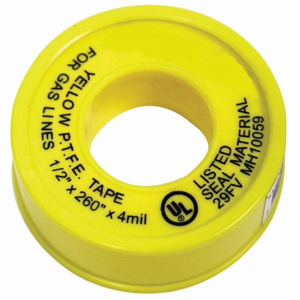 Yellow Propane, Natural Gas Line Teflon Tread Seal Tape UL ...