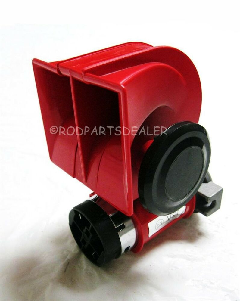 Air Horn Compressor >> VERY LOUD Gearhead 12v Red Twin Auto Machine Air Horn 139dB Universal Motorcycle | eBay