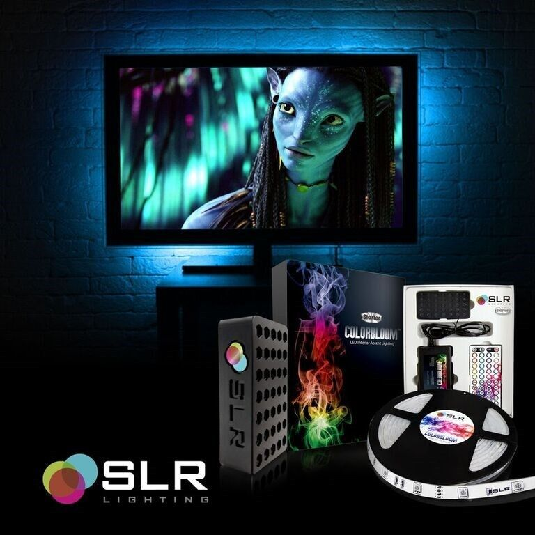 Theater Light Control System: LED Home Theater TV Back Light Bias Accent Lighting Kit