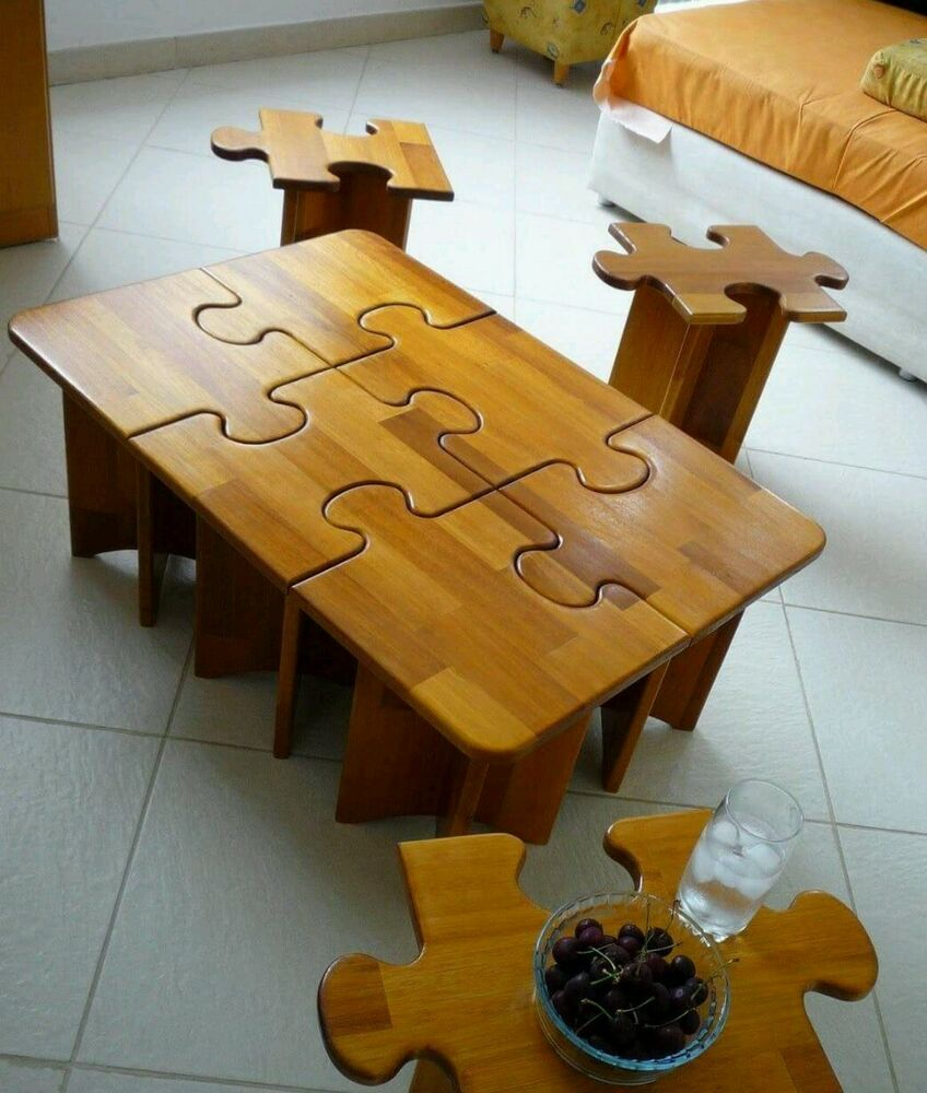 Puzzle Top Coffee Table Ebay