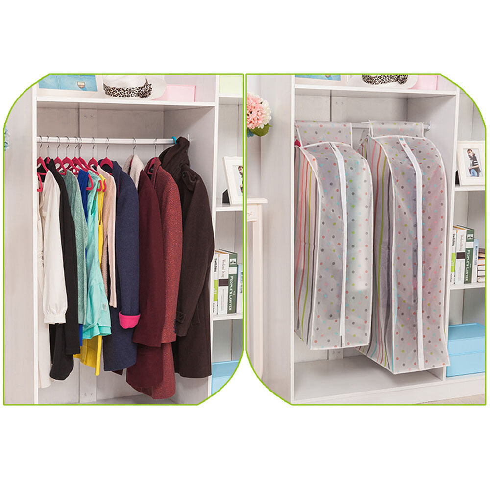 hanging garment suit coat clothes dust cover protector