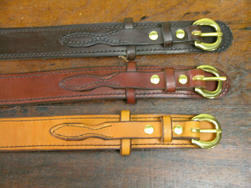1 1 2 Quot Wide Amish Hand Made Ranger Belts Ebay