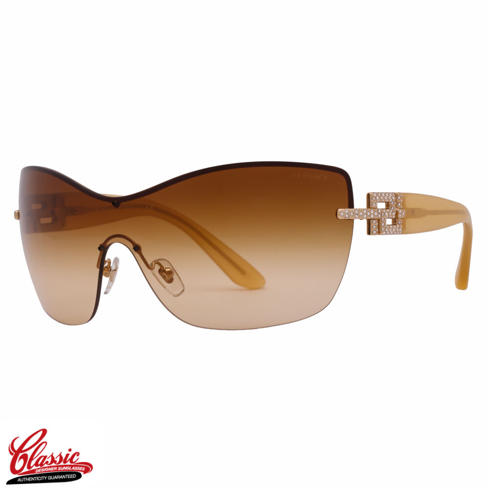 Versace Sunglasses Gold Frame : VERSACE SUNGLASSES VE2156B 1354/2L Gold Frame Brown/Yellow ...