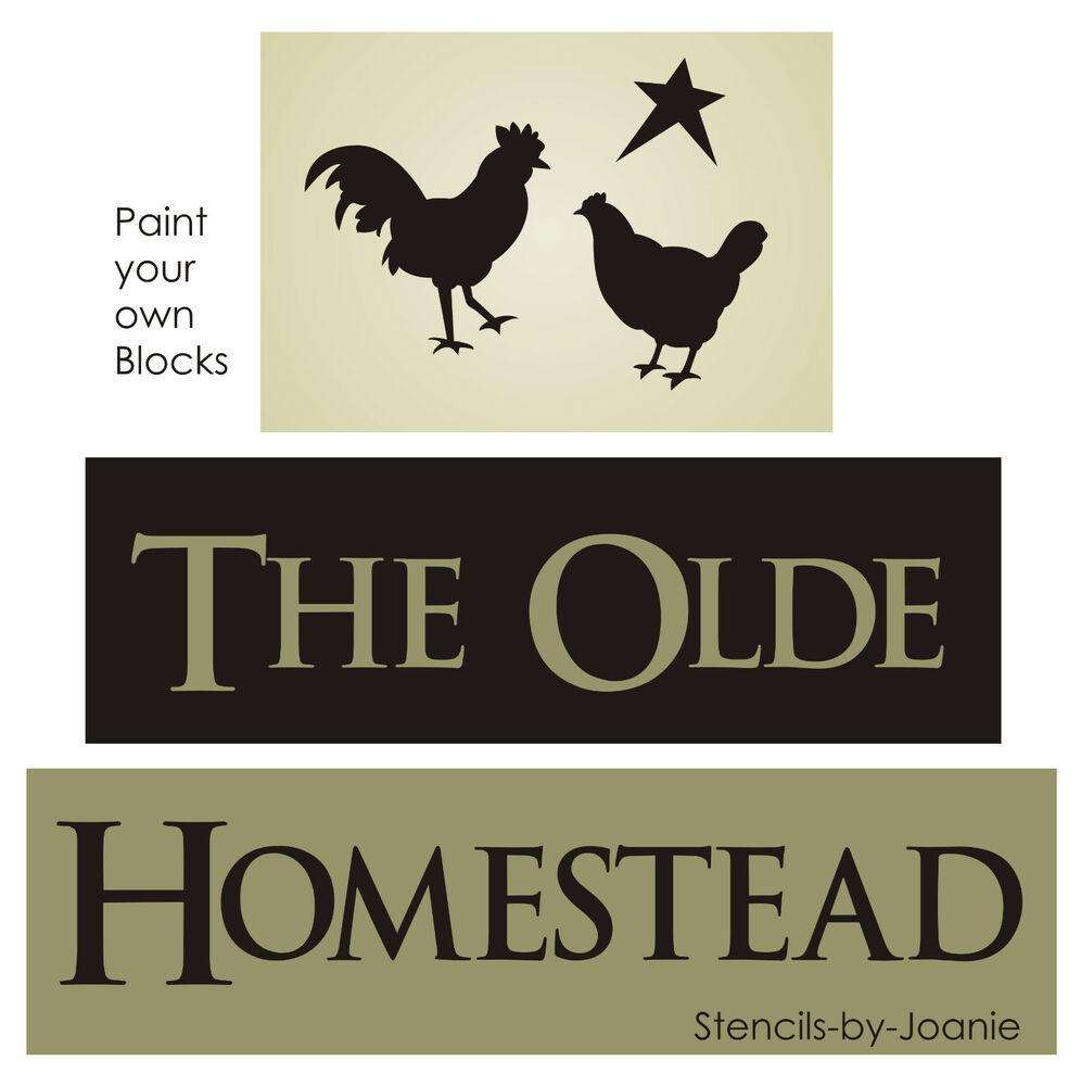 Primitive Stencil Olde Homestead Rooster Chicken Star Country Farm ...