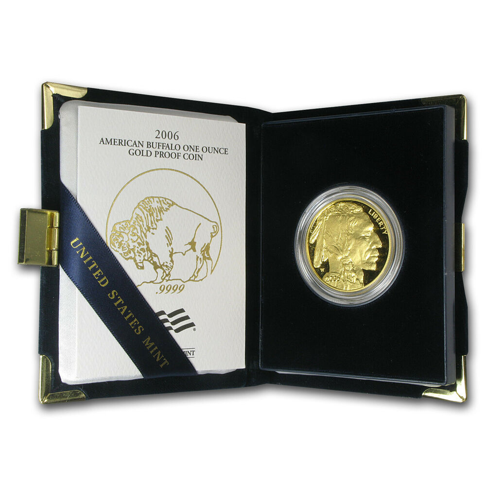2006 W 1 Oz Proof Gold Buffalo Coin With Box And
