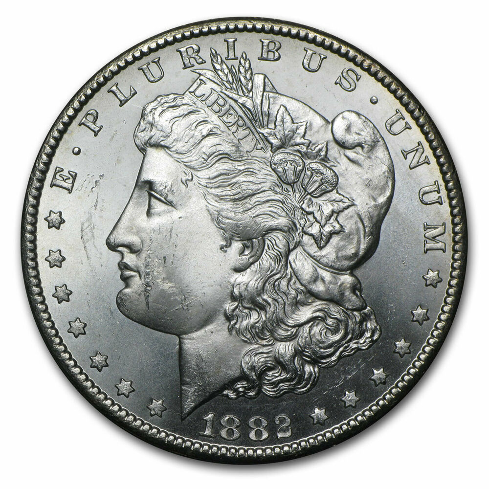 1882 Cc Morgan Silver Dollar Coin Brilliant Uncirculated