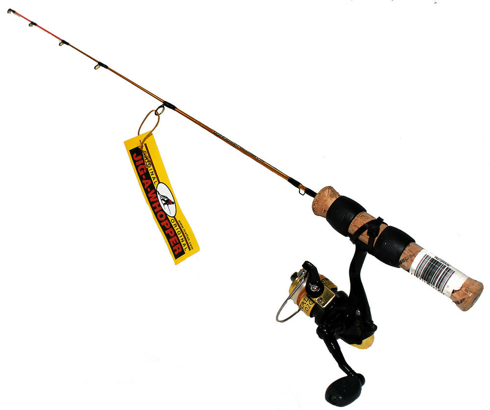 Ht 25 jig a whopper light action rod 2bb reel ice for Ht ice fishing