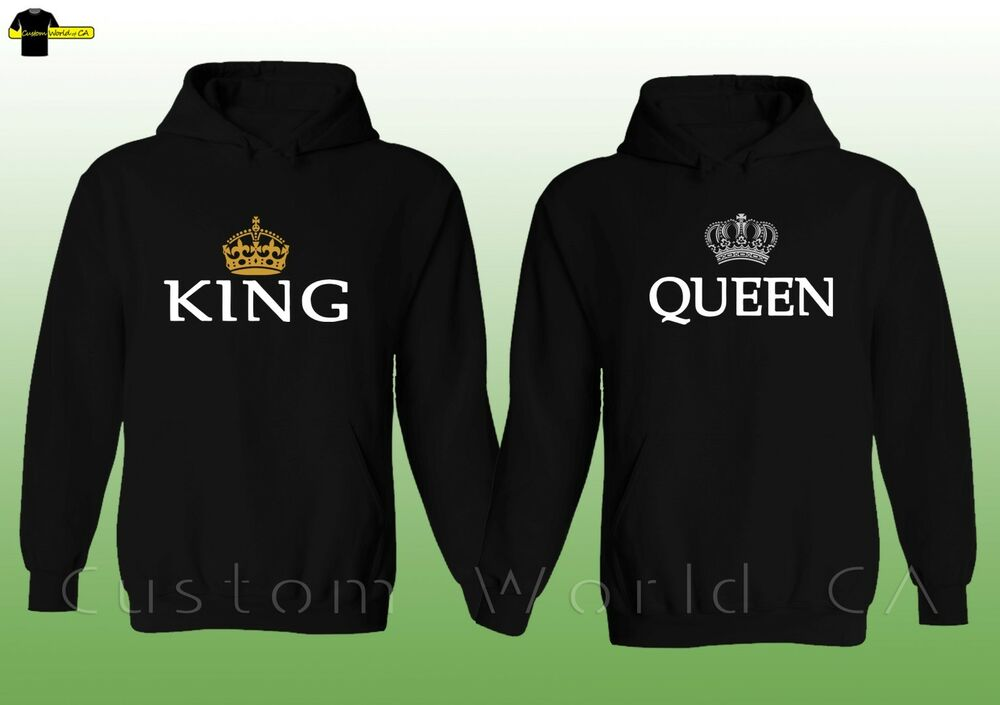 couple hoodie king queen his and hers couple. Black Bedroom Furniture Sets. Home Design Ideas