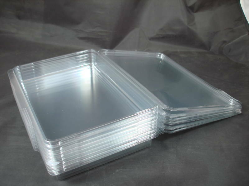 8 NEW Clear Plastic Storage Cases XL 8x5 - Rubber Stamps ...