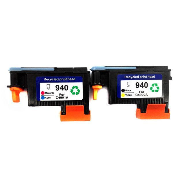 genuine 2 pack 940 printhead c4900a c4901a for hp officejet pro 8000 8500 ebay. Black Bedroom Furniture Sets. Home Design Ideas