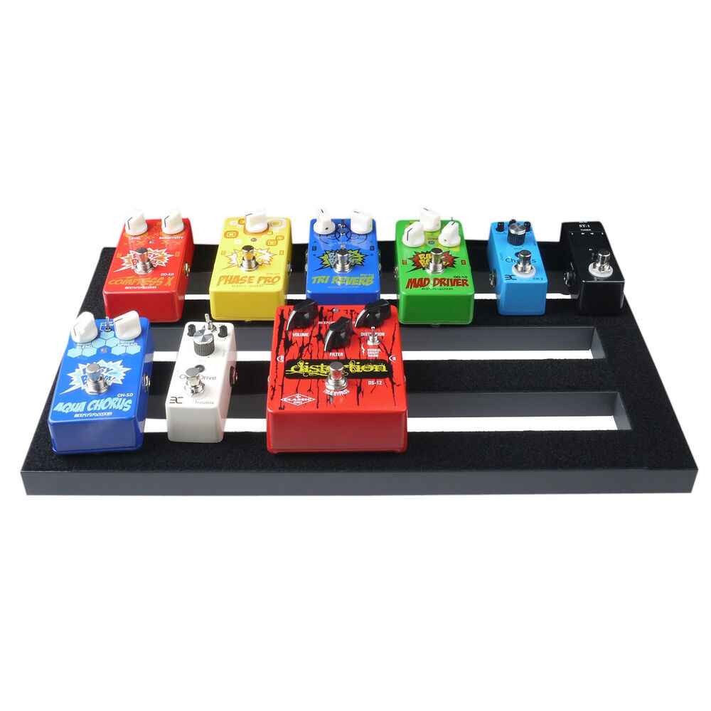 guitar effect pedal board pedalboard with magic tape cable straps 18 5 39 39 x 10 6 ebay. Black Bedroom Furniture Sets. Home Design Ideas