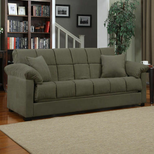Sage Sleeper Sofa Convertible Couch Full Bed Futon Living Room Furniture Gues