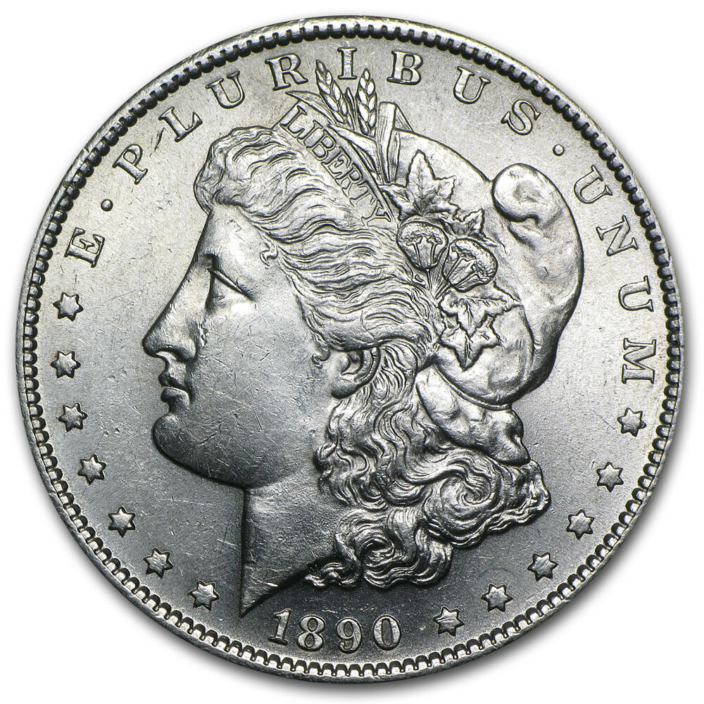 1890 S Morgan Silver Dollar Coin Brilliant Uncirculated