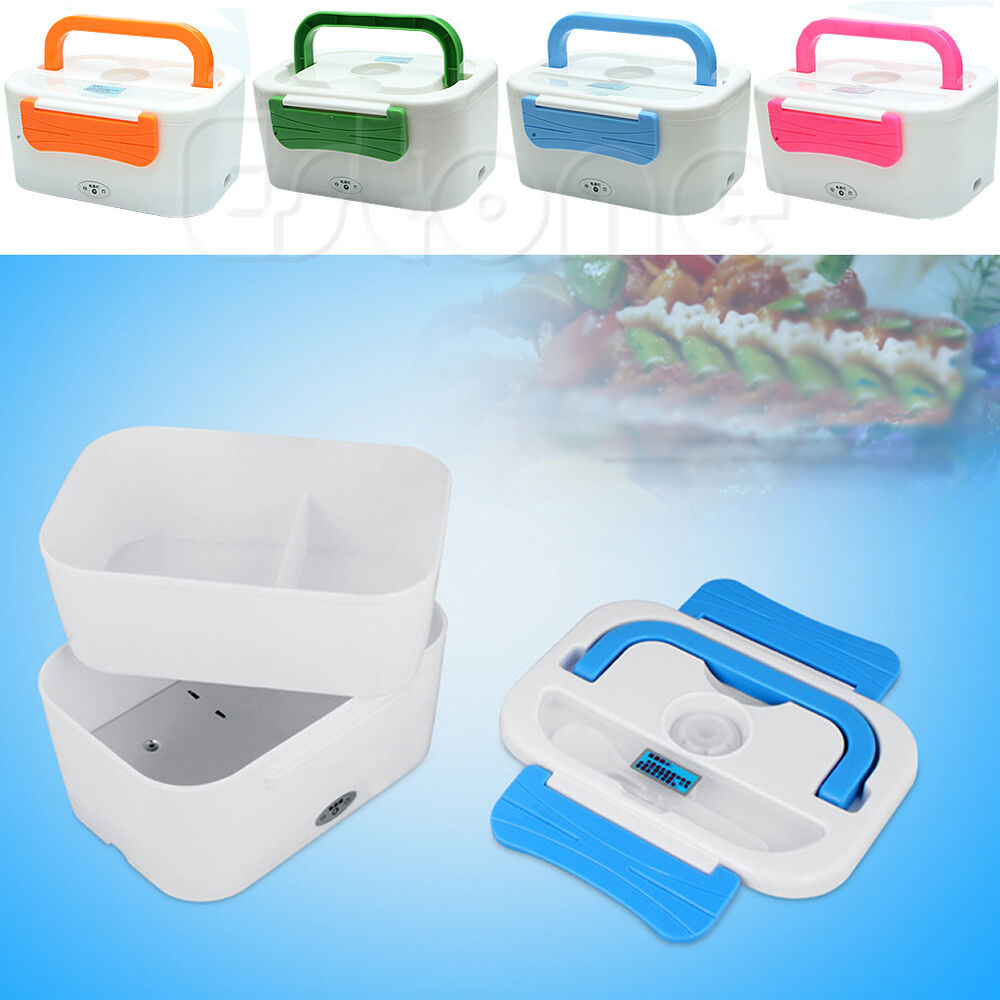 portable heating lunch box electric heating lunch bento box food warmer us plug ebay. Black Bedroom Furniture Sets. Home Design Ideas