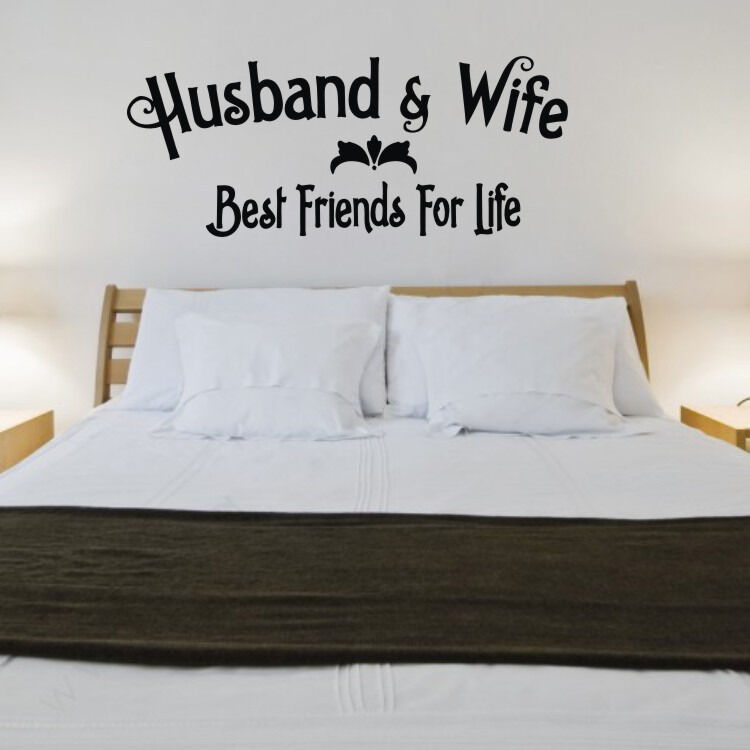 DIY Husband Wife Removable Wall Quote Vinyl Art Sticker ...