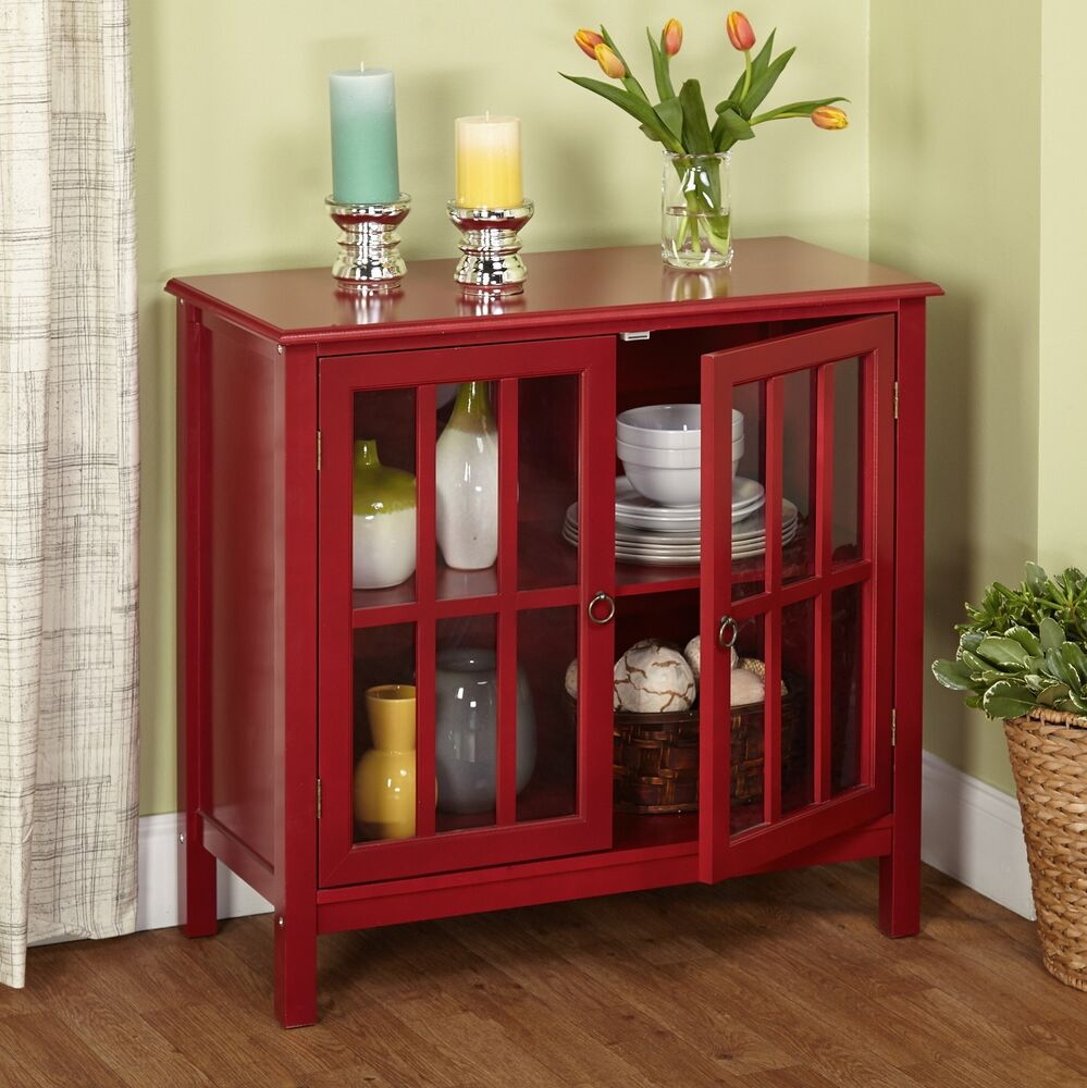 red storage cabinet w 2 door 1 adjustable shelf wood furniture rustic holic accent kitchen with knotty wood
