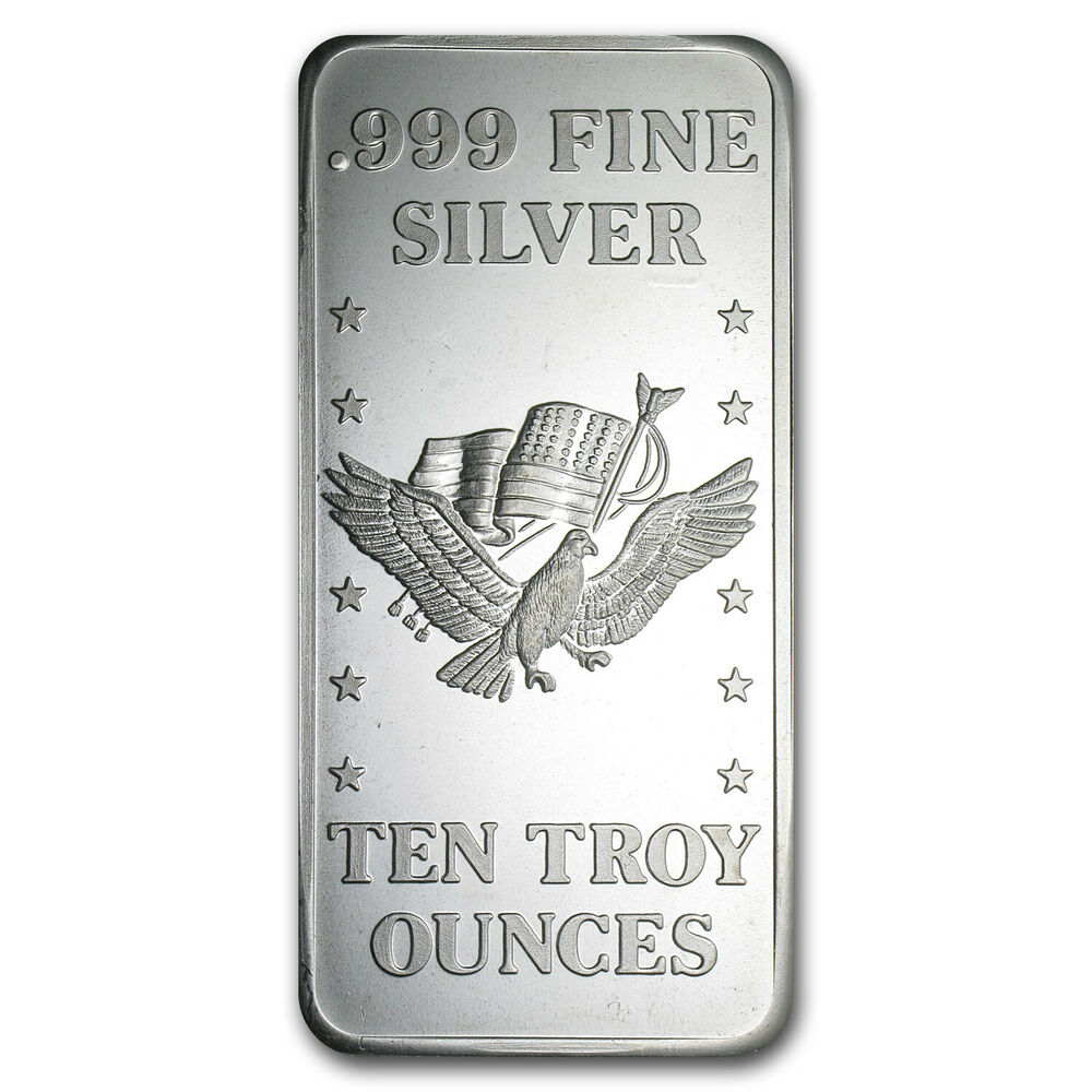 10 Oz Silver Bar U S Assay Office Sku 42432 Ebay
