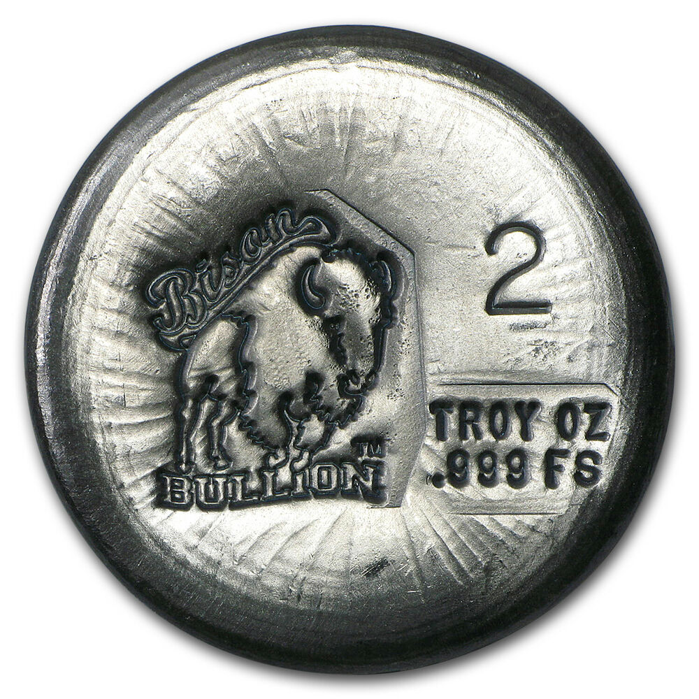 2 Oz Silver Round Bison Bullion Sku 94803 Ebay