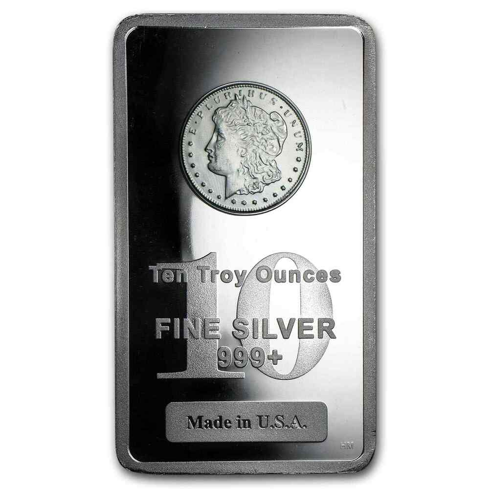 10 Oz Morgan Design Silver Bar Sku 50038 Ebay