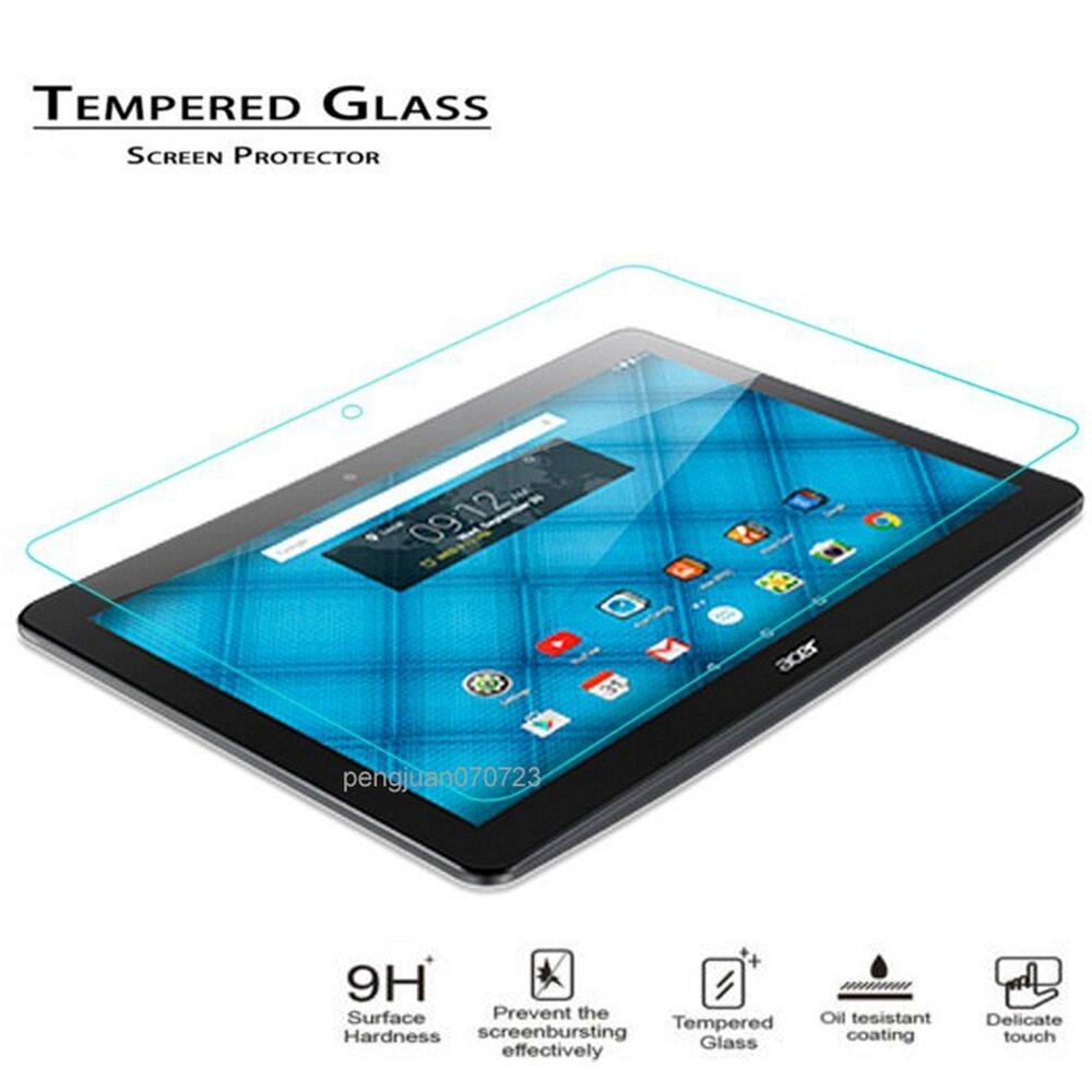 9h tempered glass protector film guard for 10 1 acer iconia one 10 b3 a10 tablet ebay. Black Bedroom Furniture Sets. Home Design Ideas
