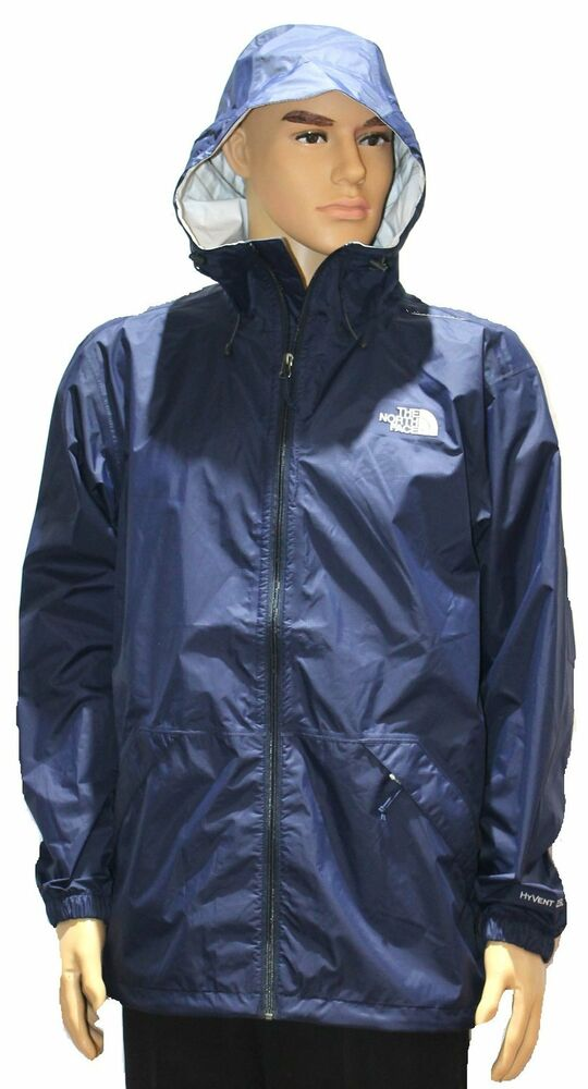 75 84 the north face nwt mens blue bakossi hyvent 2 5l rain jacket size xl ebay. Black Bedroom Furniture Sets. Home Design Ideas