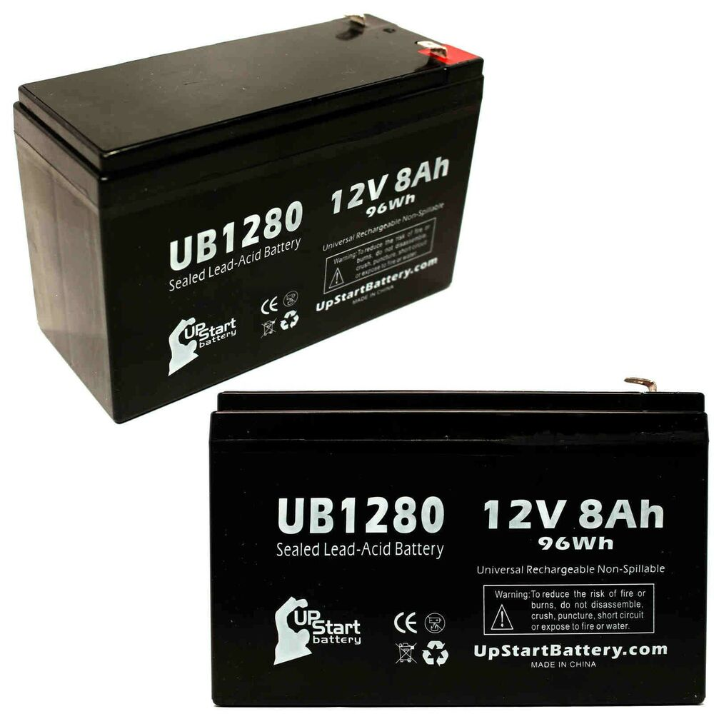 2 pack apc br1500g br1000g battery ub1280 12v 8ah sealed. Black Bedroom Furniture Sets. Home Design Ideas