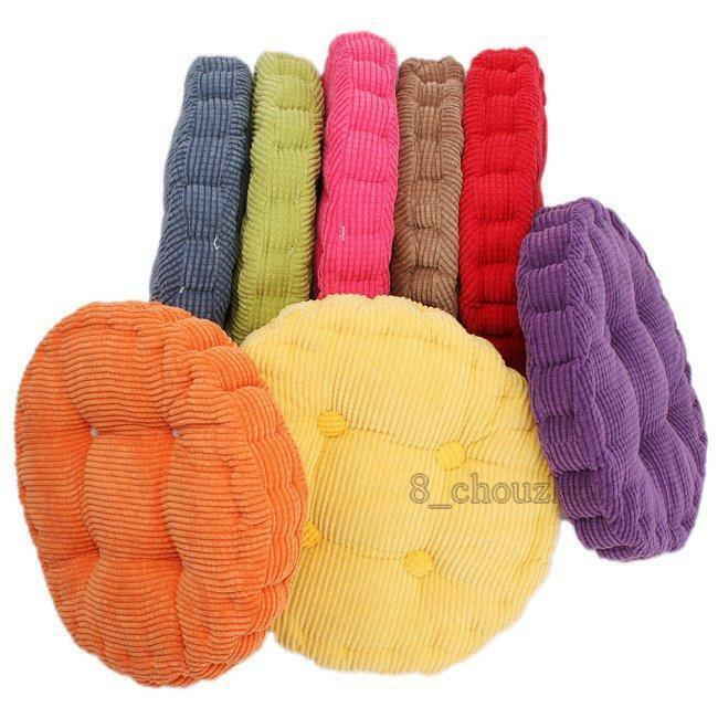 Hot Round Square Thick Warm Corduroy Cushion Pad Seat