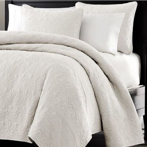 Bed In A Bag Oversized 3pc Quilted Coverlet Set White