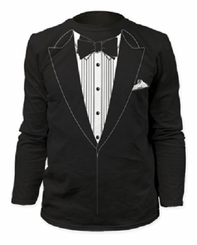 TUXEDO TSHIRT TUX FUNNY PROM WEDDING GROOM COSTUME OUTFIT