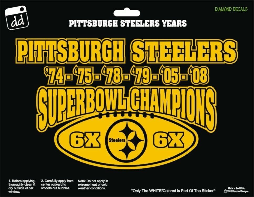 Pittsburgh Steelers Nfl Football 6x Super Bowl Champs Gold