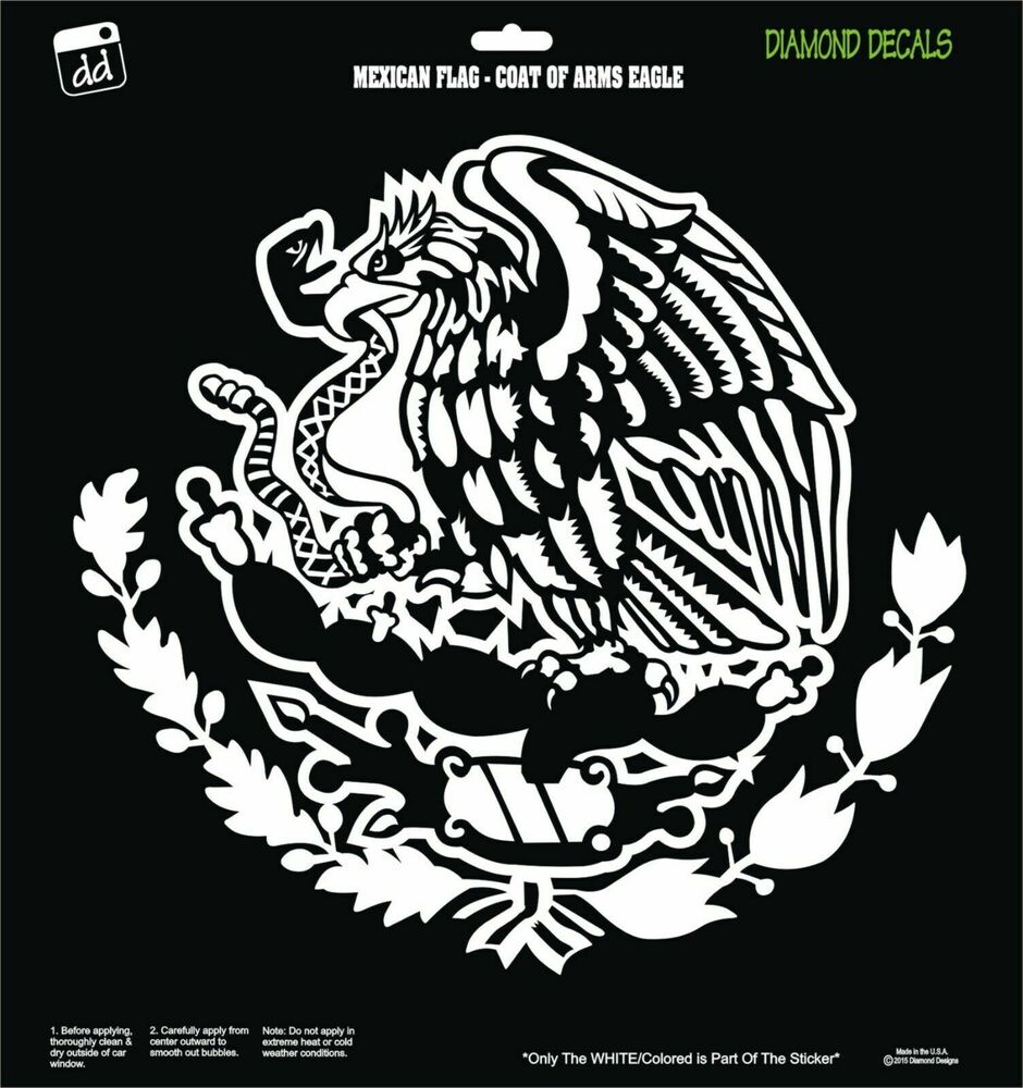 mexican eagle snake flag coat of arms design vinyl decal sticker