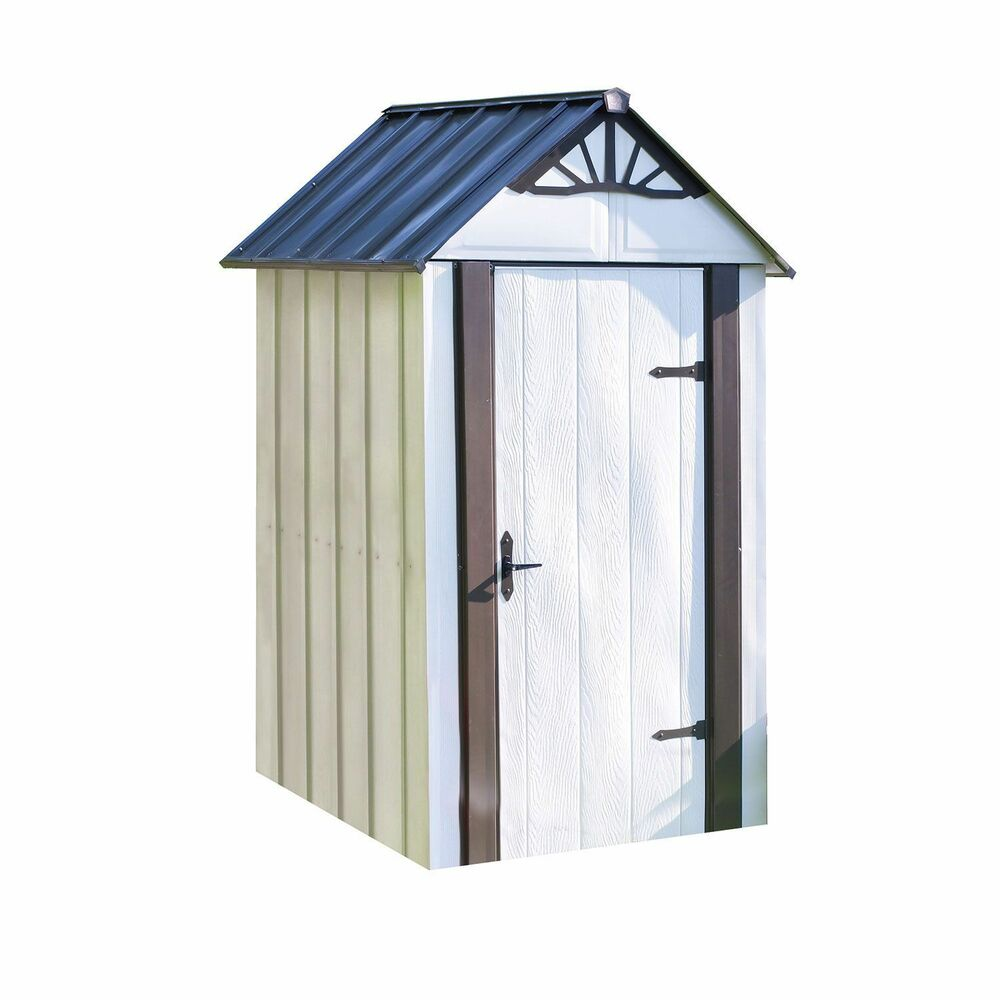 Designer Series Metro Backyard Steel Storage Shed 4 X 4