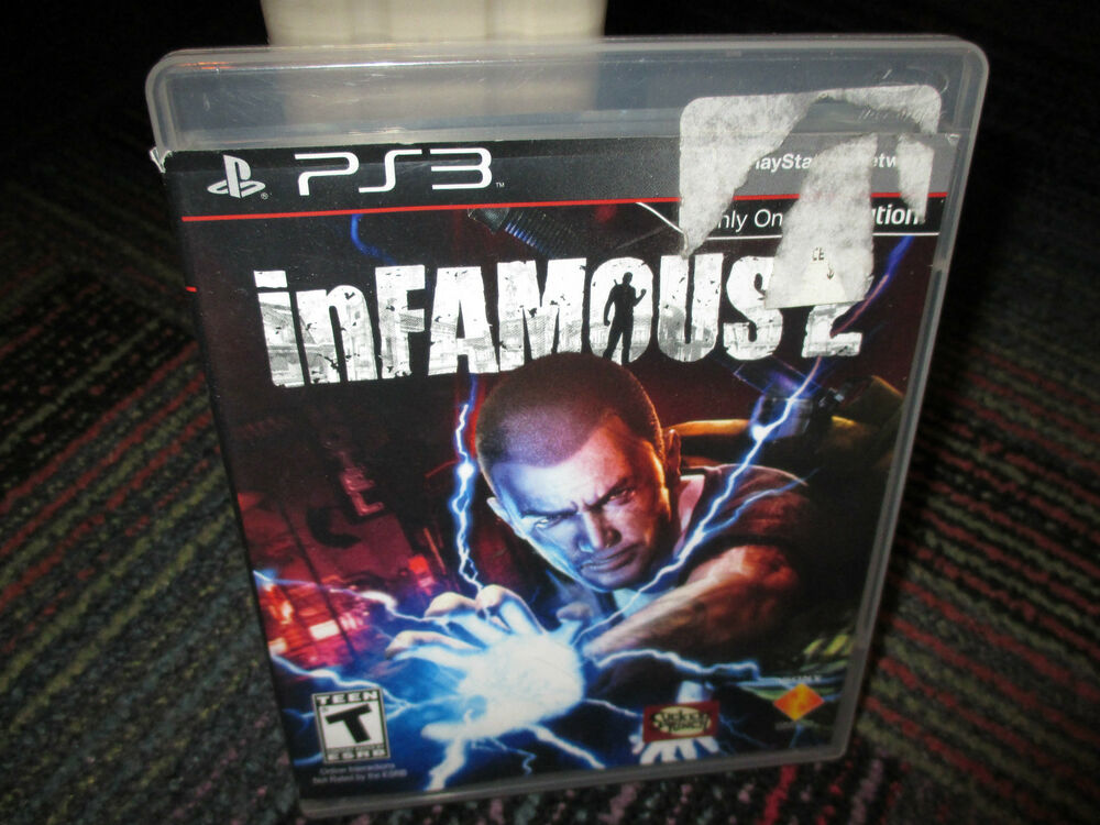 INFAMOUS 2 GAME FOR PS3 PLAYSTATION 3,CASE, GAME & MANUAL ...