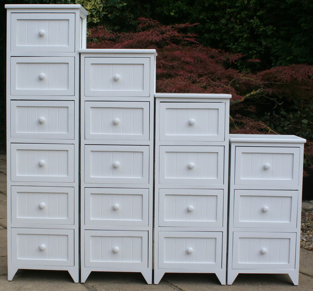 Ideal For The Bathroom Tall 3 4 5 6 Drawer Storage Units Ebay