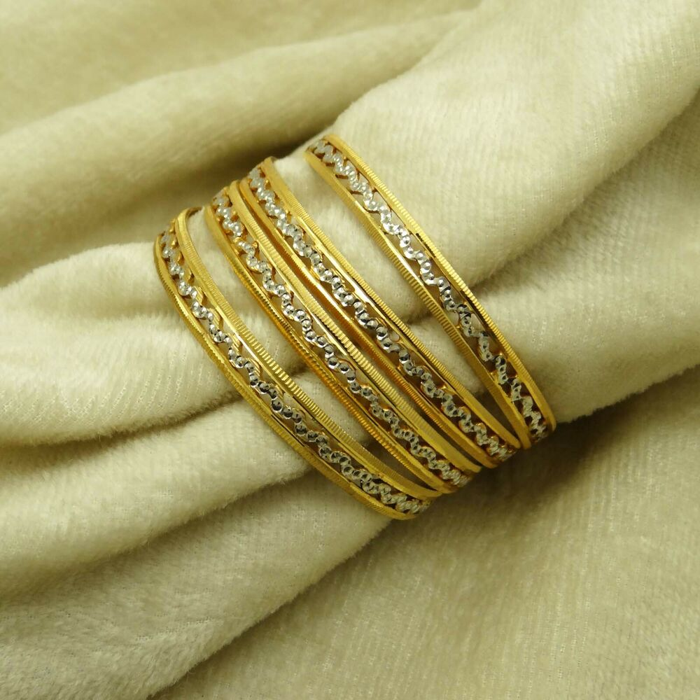 Indian Ethnic Bollywood Gold Plated 4 PC Bangles Women ...
