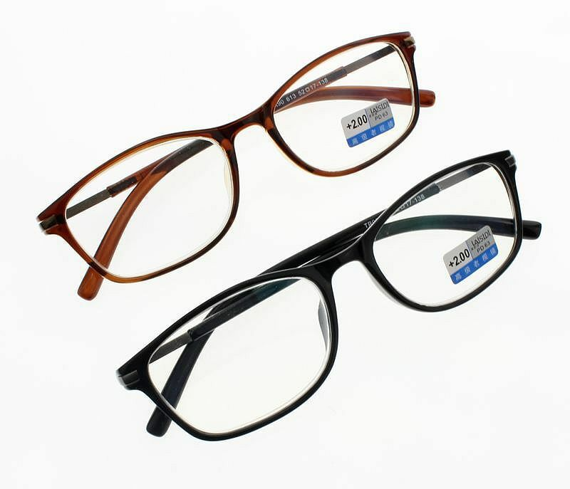 Reading Glasses Large Frame : Big Large Oversized Square TR90 Frame Reading Glasses ...