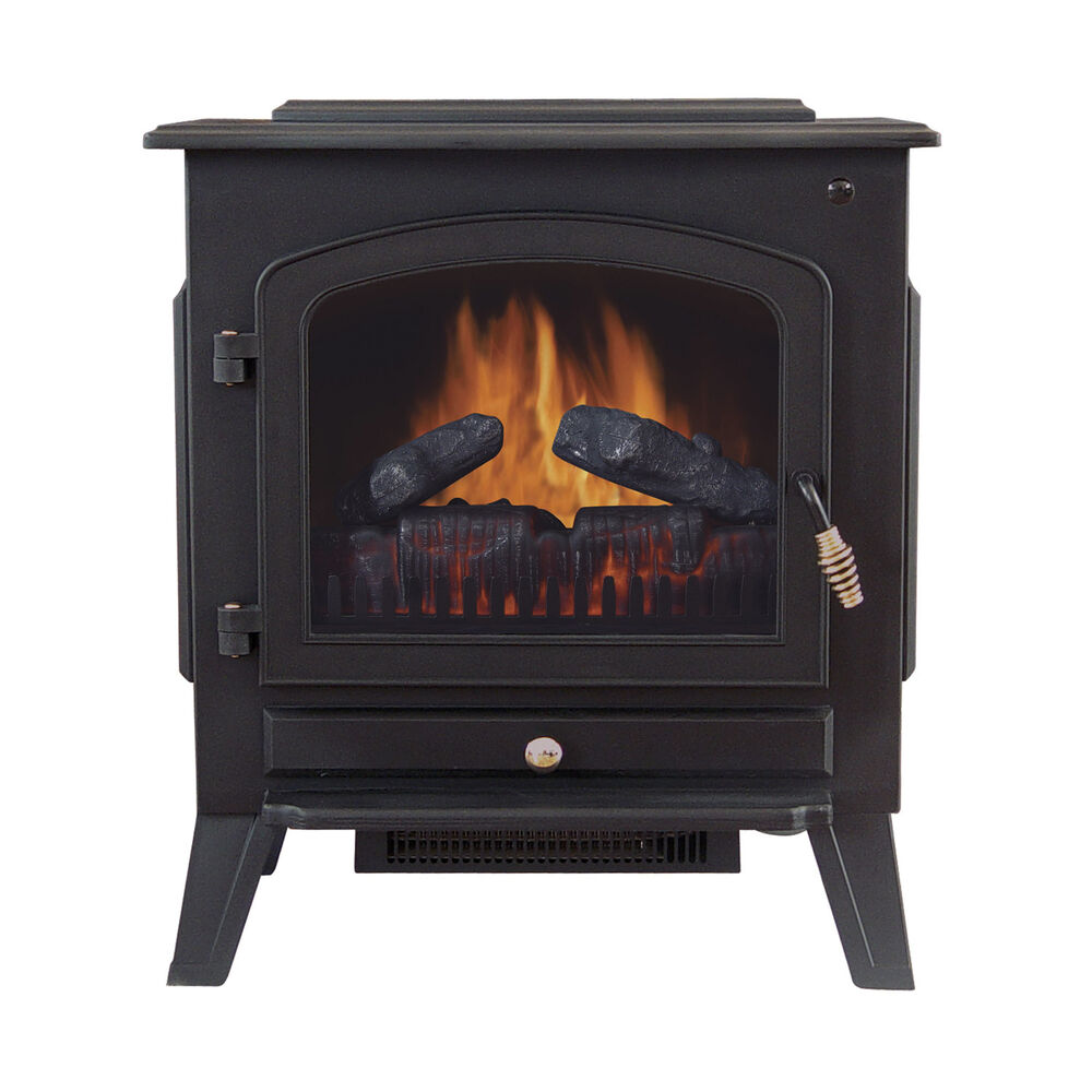Tahoe 90402200 120 Volt Electric Stove Fireplace Heater With Thermostat Control Ebay