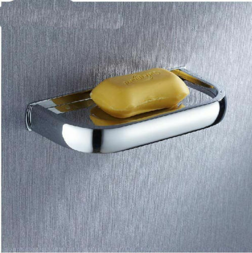 New wall mounted chrome brass square soap dishes bathroom soap dish holder ebay for Wall mounted soap dishes for bathrooms