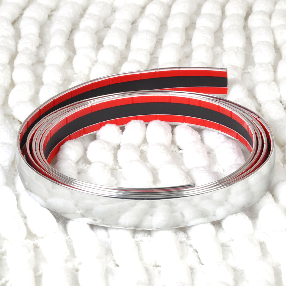 Hotsale exterior car chrome adhesive strip trim for Advanced molding decoration